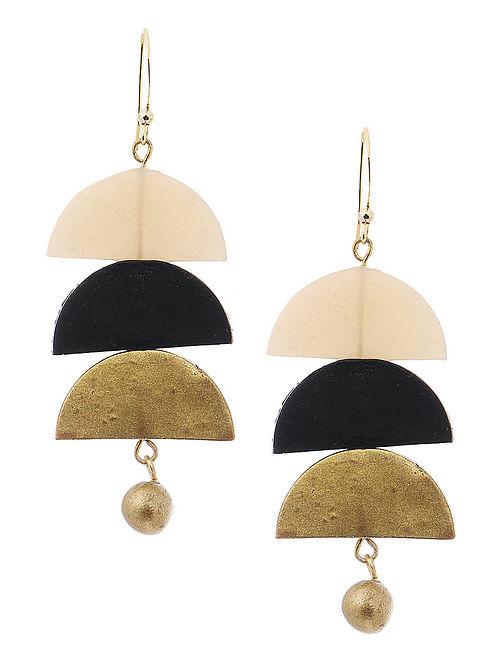 Black-White Clay Earrings