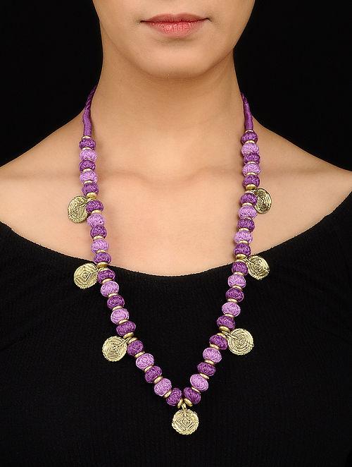 Purple Gold Tone Necklace