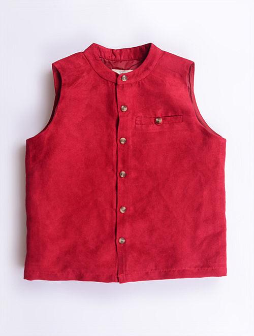 Maroon Waistcoat