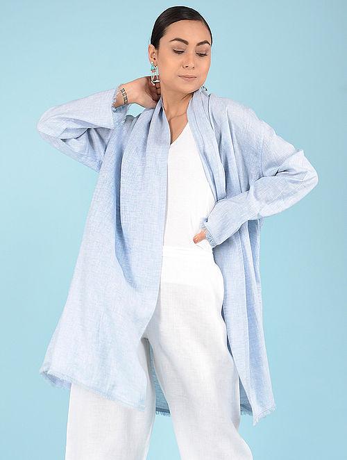 d87cb4b54ec6a Buy Pale Blue Linen Jacket Online at Jaypore.com