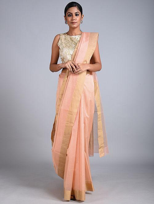 Rose Handwoven Chanderi Saree