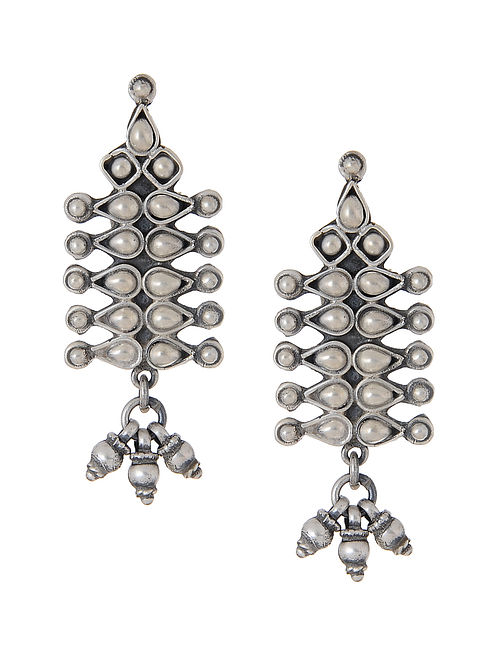 Tribal Silver Earrings