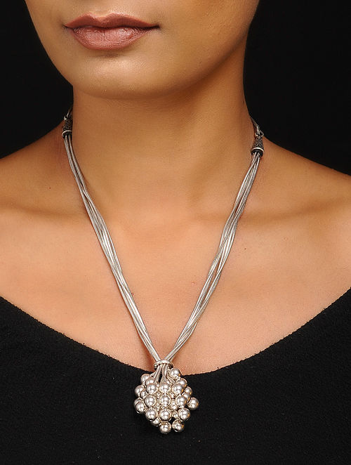 f09aad1fc0f2a7 Buy Classic Silver Necklace Online at Jaypore.com