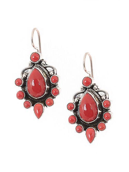 29eaa9888 Buy Coral Silver Earrings Online at Jaypore.com