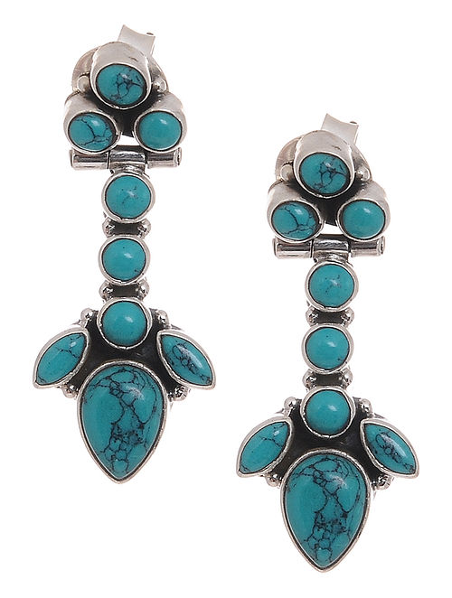 4834d58c192 Buy Turquoise Silver Earrings Online at Jaypore.com