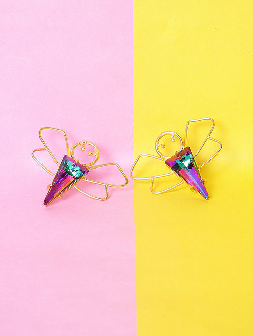 Multicolored Glass Stone Handcrafted Earrings
