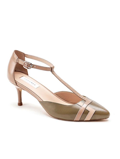 Nude Olive Handcrafted Soft Leather Heels