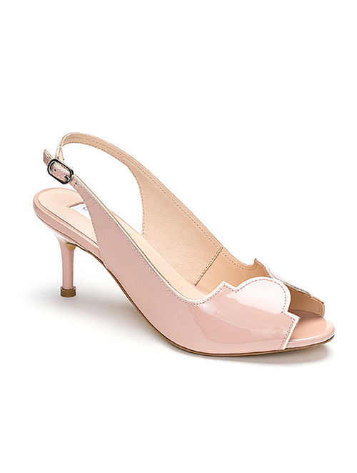 Pink Ivory Handcrafted Soft And Patent Leather Heels