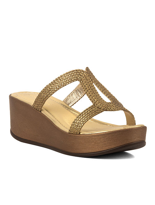 Bronze Handcrafted Leather Wedges