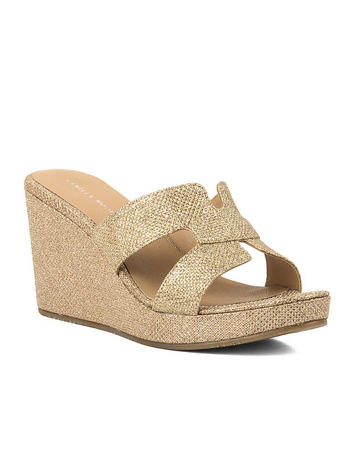 Gold Handcrafted Synthetic Wedges