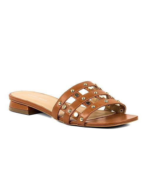 Tan Handcrafted Leather Block Heels
