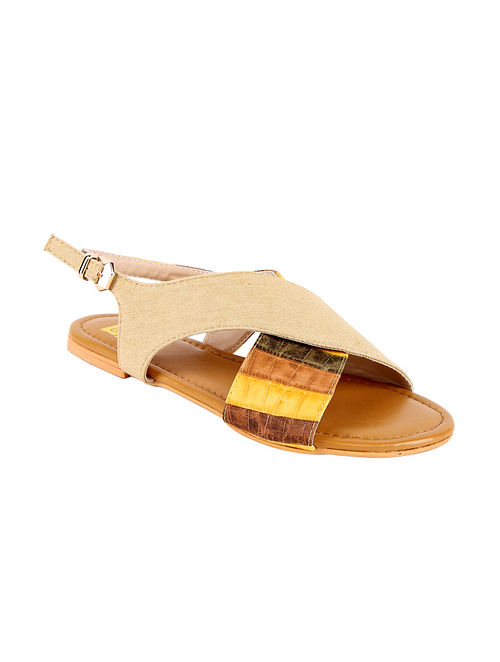 Mustard Handcrafted Vegan Leather Sandals