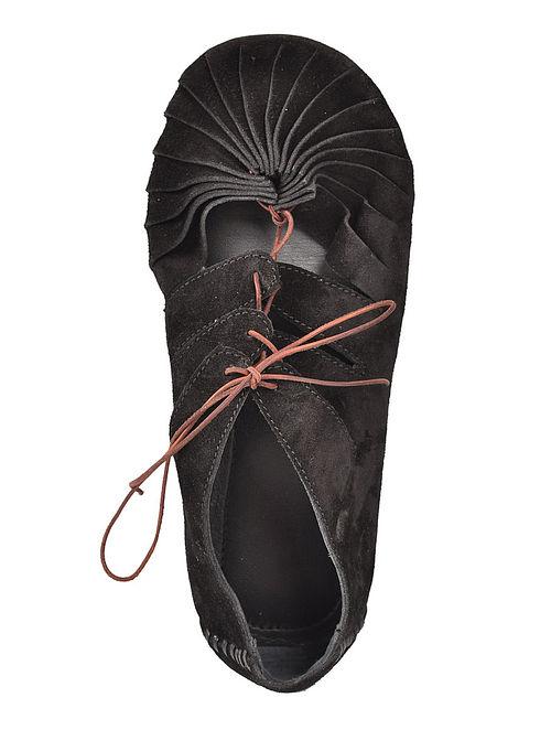 Black Italian Split-Leather Unisex Shoes