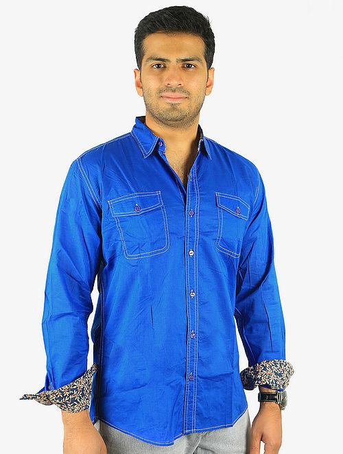 Blue Full Sleeve Cotton Shirt