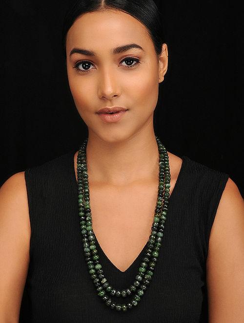 Nephrite Jade Beaded Necklace