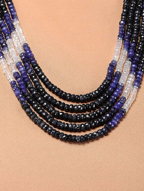2b4f8a3d9 Buy Blue Sapphire Multi-string Beaded Necklace Online at Jaypore.com