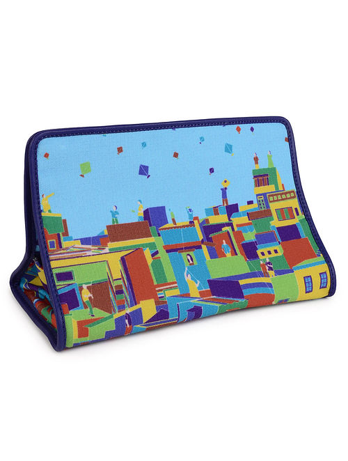 Graphic Printed Kite Flying Tissue Box Cover