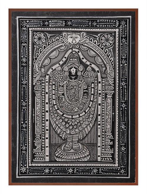 Tirupati Pattachitra on Patta 12in x 9in