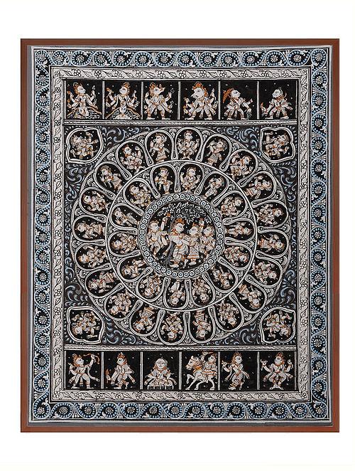 Krishna Dashavtar Pattachitra on Patta 12in x 10in