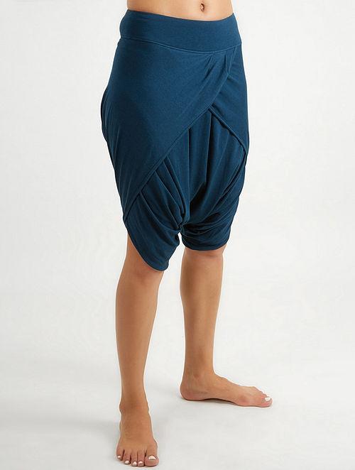 1844b4d7eeb55 Buy Blue Elasticated Waist Organic Cotton-Lenzing Modal Yoga Pants ...