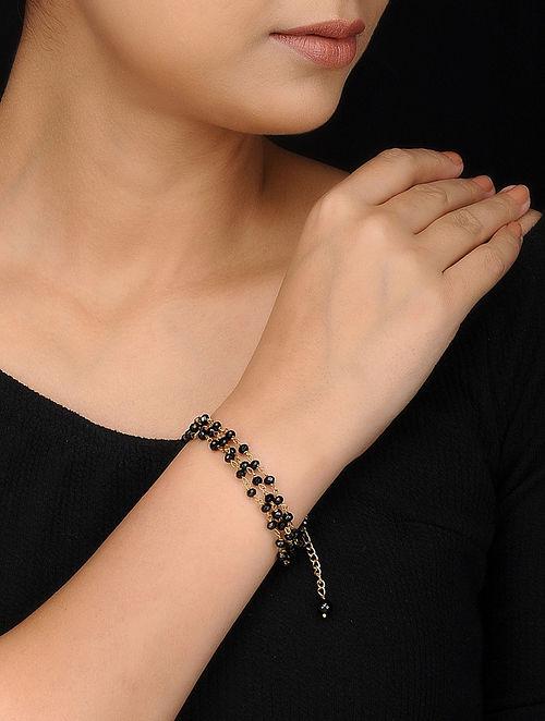 Black Gold Tone Onyx Bracelet