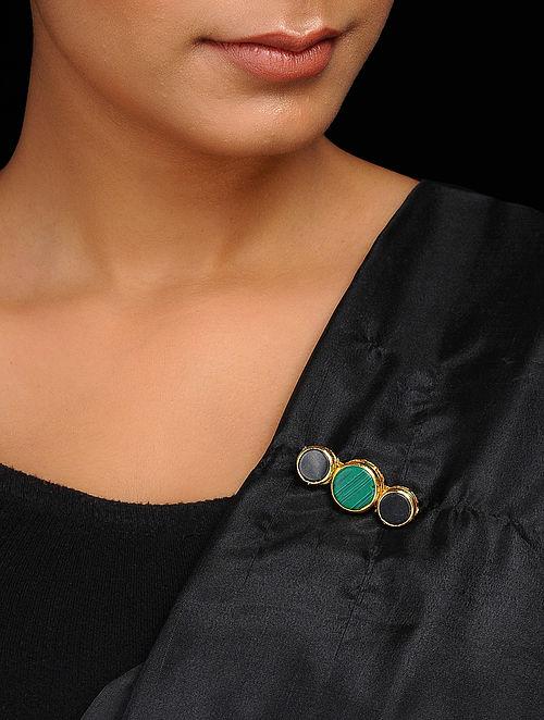 Green-Black Handcrafted Brooch