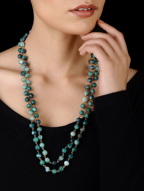 Green Handcrafted Onyx Necklace