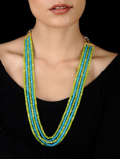 Green-Blue Handcrafted Onyx Necklace