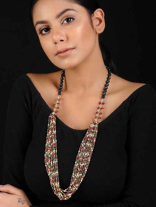 Multicolored Kundan Inspired Beaded Necklace