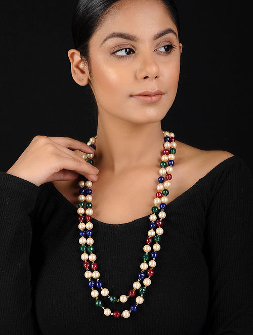Multicolored Pearl Beaded Handcrafted Necklace