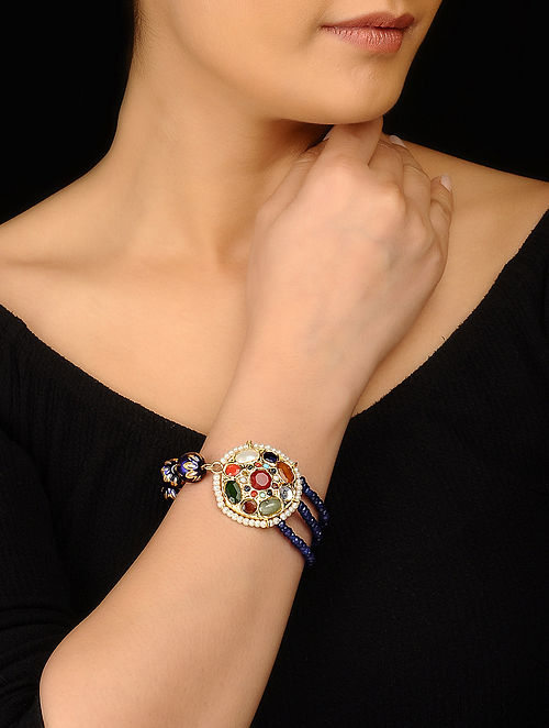 Blue Multicolored Navratan Bracelet
