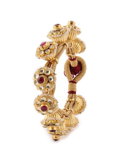 Red Gold Tone Pacheli Bracelet