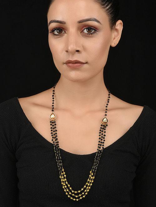 Black Gold Tone Kundan Necklace