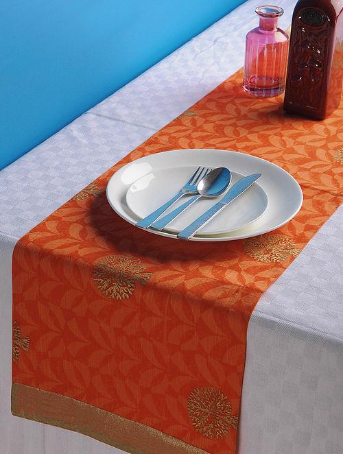 Orange-Golden Tree Table Runner 45in x 13in