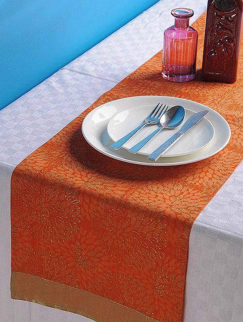 Orange-Golden Dahlia Table Runner 45in x 13in