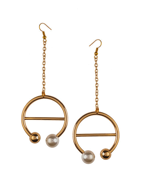 Classic Rose Gold Plated Brass Earrings