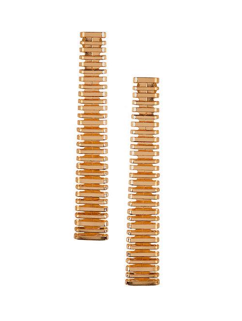 Rose Gold Plated Brass Earrings