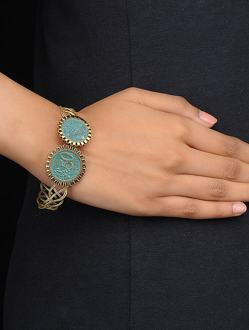 Classic Turquoise Gold Tone Bracelet