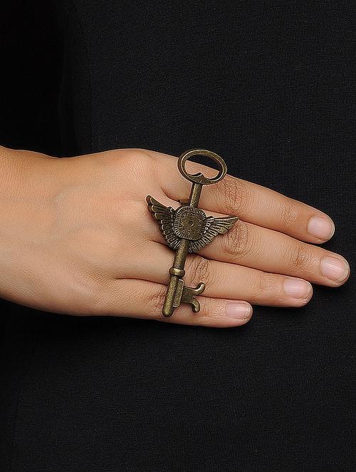 Vintage Adjustable Brass Ring