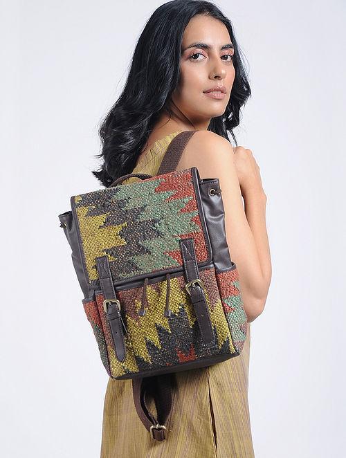 Multicolored Cotton Kilim Backpack