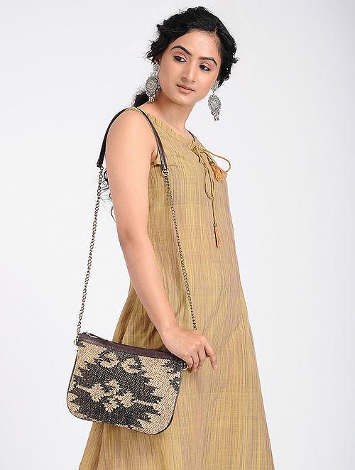 Multicolored Wool Jute Kilim Sling Bag