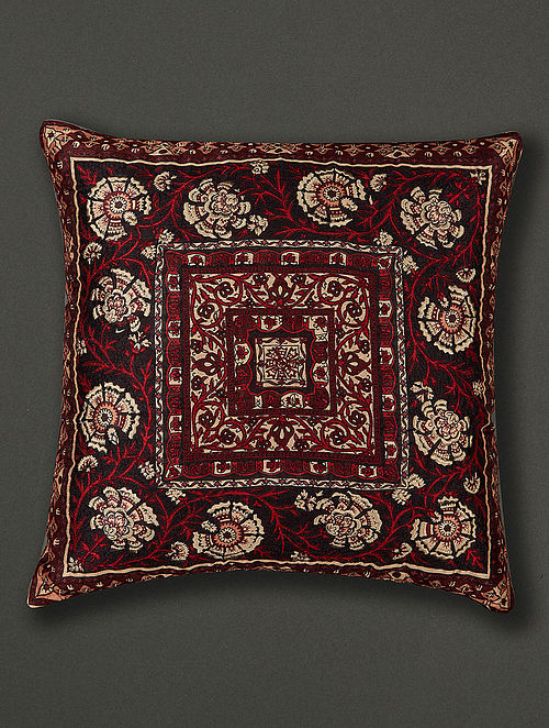 Agora Red Polydupion Cushion Cover with Filler (18in x 18in)