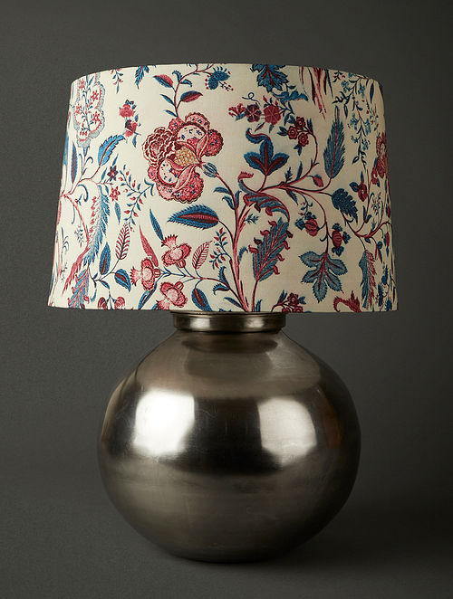 Grey Brass Flicker Lamp Base (Dia - 30cm, H- 30cm)
