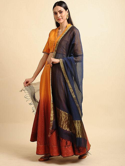 Blue Silk Cotton Dupatta