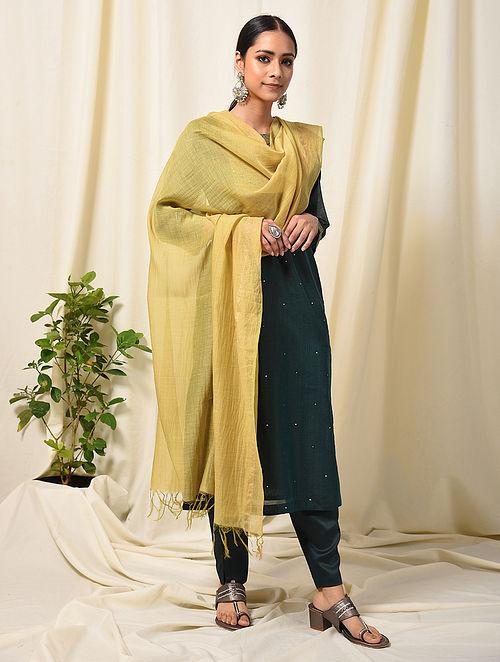 Yellow Silk Cotton Dupatta