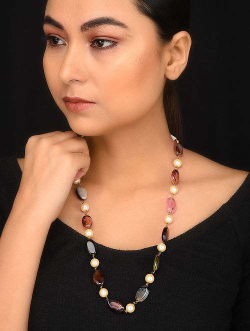 Multicolored Pearl Beaded Necklace