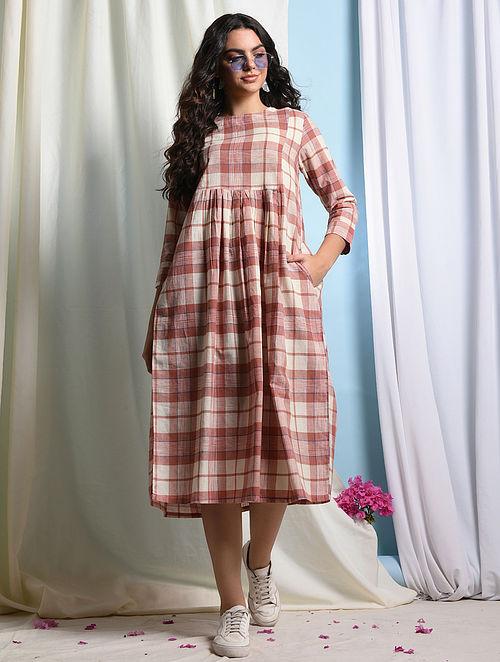 FERMOSA - Pink-Ivory Handloom Cotton Dress