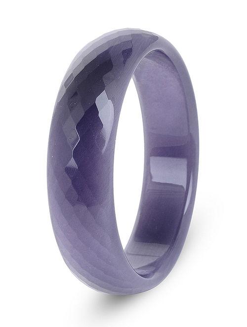 Purple Glass Crystal Bangle