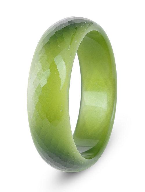 Green Glass Crystal Bangle