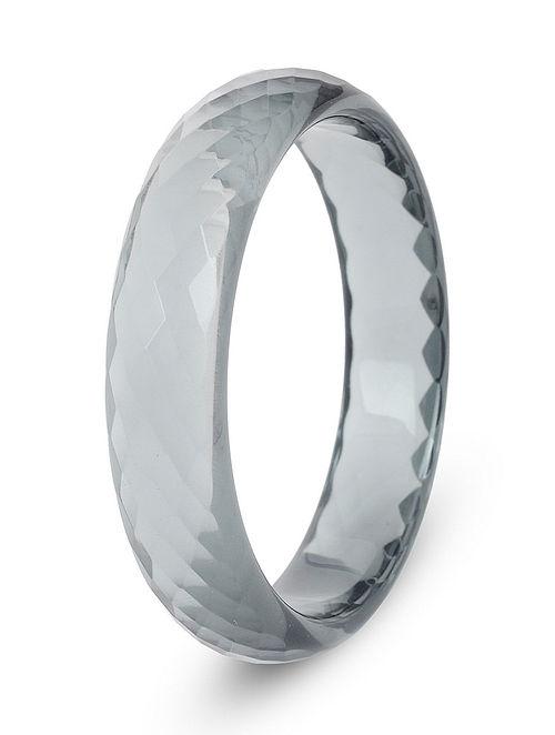 Grey Glass Crystal Bangle